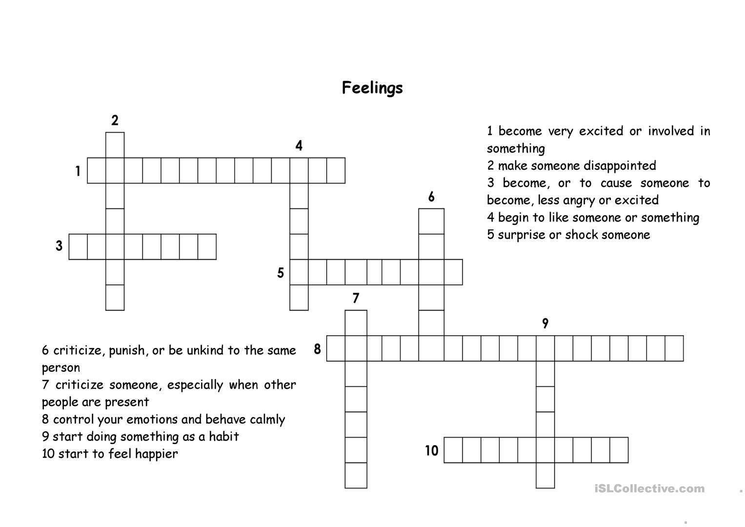 An Angry Person Crossword