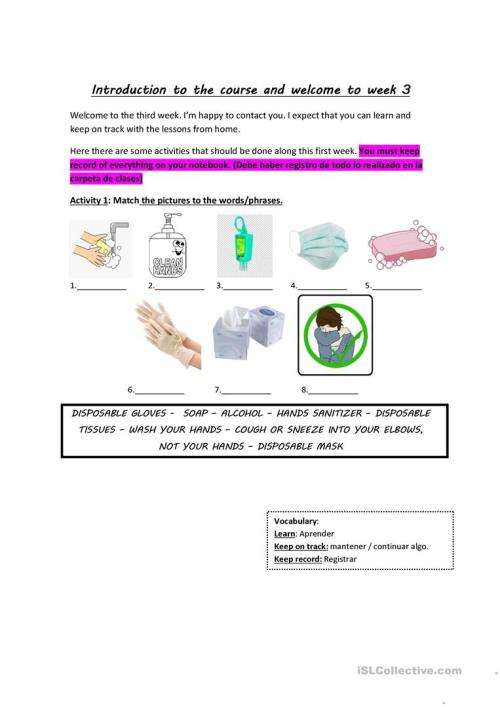 small resolution of COVID-19-ELEMENTARY LEVEL - English ESL Worksheets for distance learning  and physical classrooms