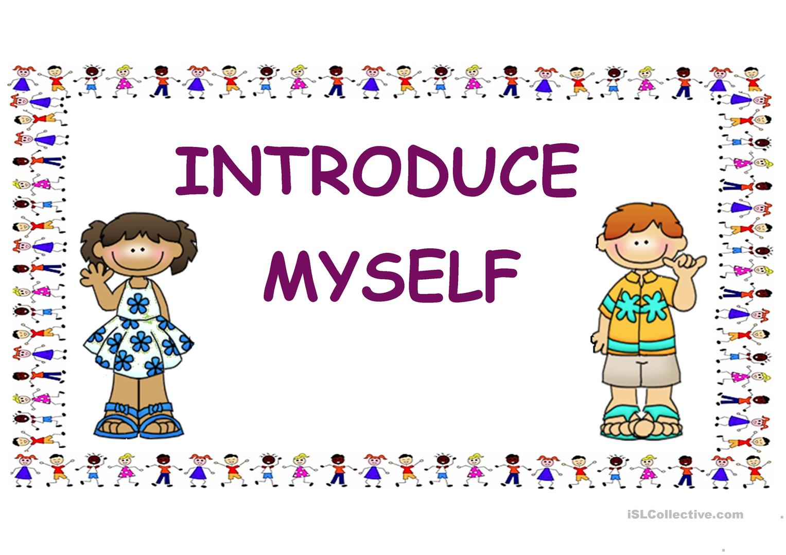 Introduce Myself For Kids