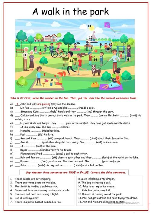 small resolution of Present continuous tense practice. - English ESL Worksheets for distance  learning and physical classrooms