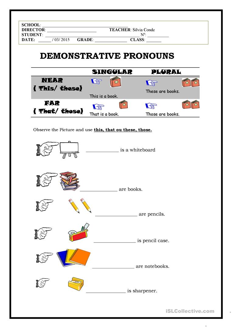 hight resolution of Demonstratives - English ESL Worksheets for distance learning and physical  classrooms