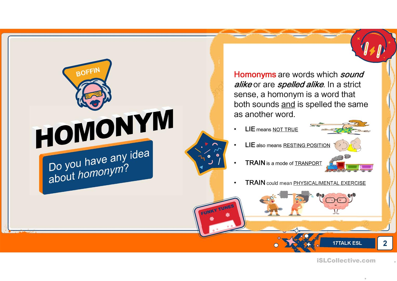 Homographs And Homophones