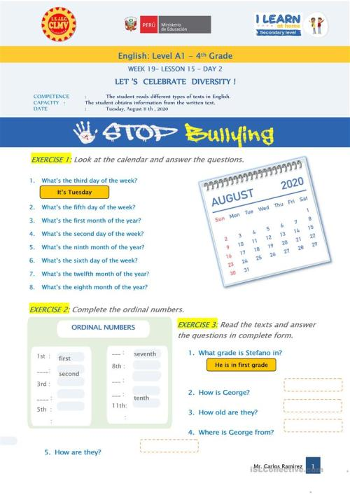 small resolution of let's celebrate diversity! -stop bullying - English ESL Worksheets for  distance learning and physical classrooms
