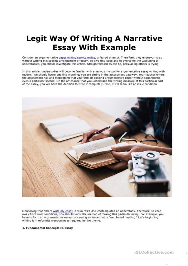 Writing A Narrative Essay - English ESL Worksheets for distance