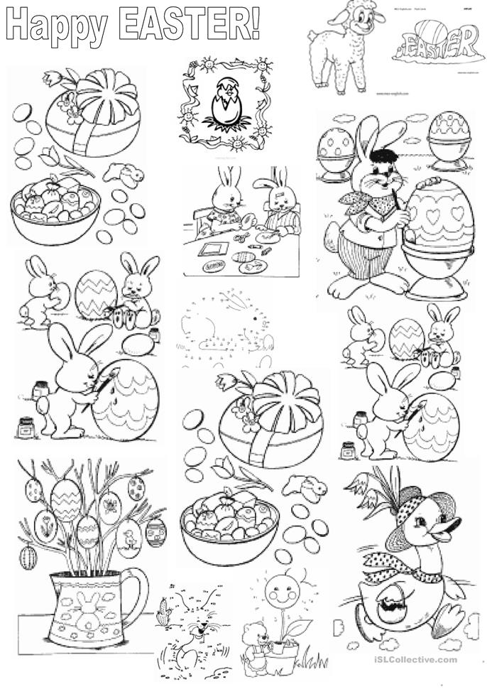 181 FREE ESL Easter worksheets