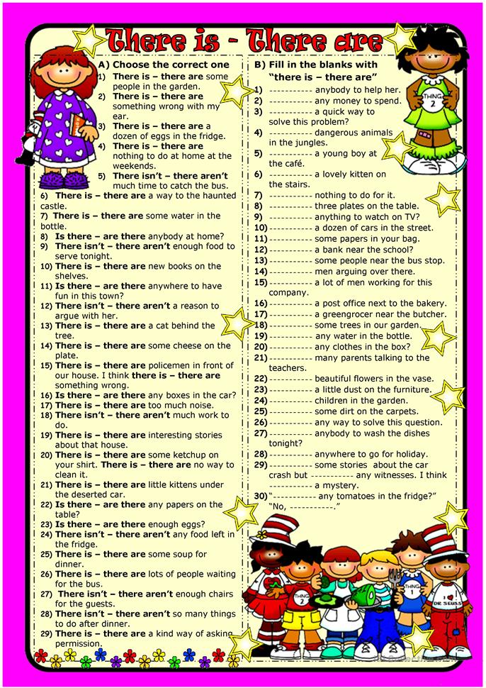 There To Be Worksheet