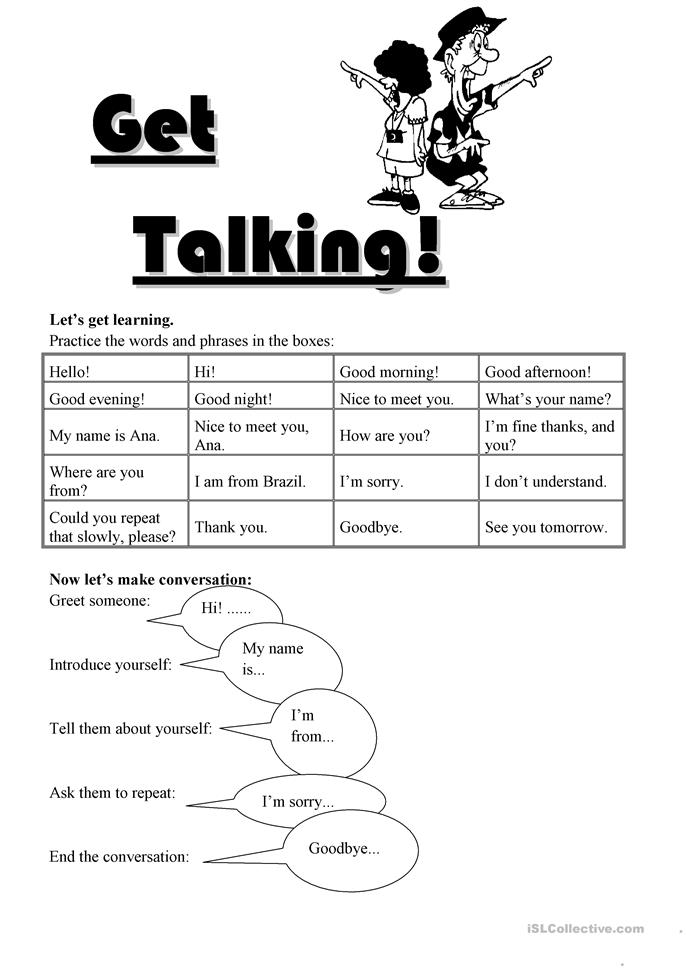 177 FREE ESL greeting worksheets