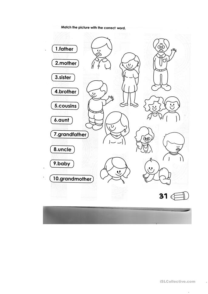 106 FREE ESL family members worksheets