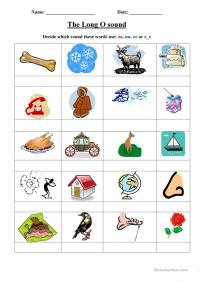 Long o worksheet worksheet - Free ESL printable worksheets ...
