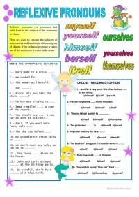 REFLEXIVE PRONOUNS worksheet