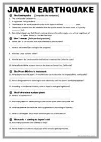 All Worksheets  Worksheets On Earthquakes - Printable ...