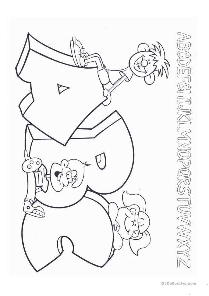 Easy Letter Tracing (whole alphabet) + Letter Coloring