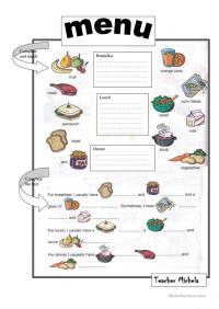 Math Worksheets  Menu Math Worksheets - Printable ...