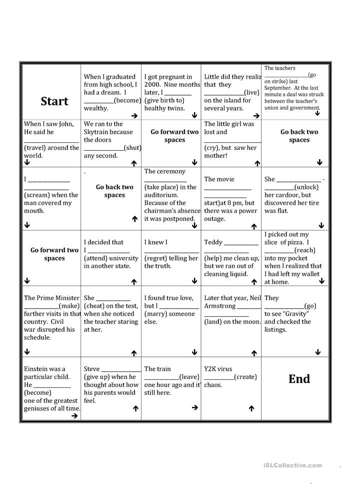 Future In The Past Board Game Worksheet