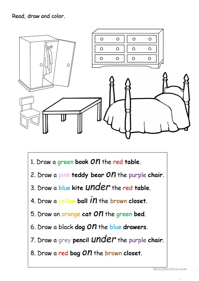 Read Draw And Color Worksheet