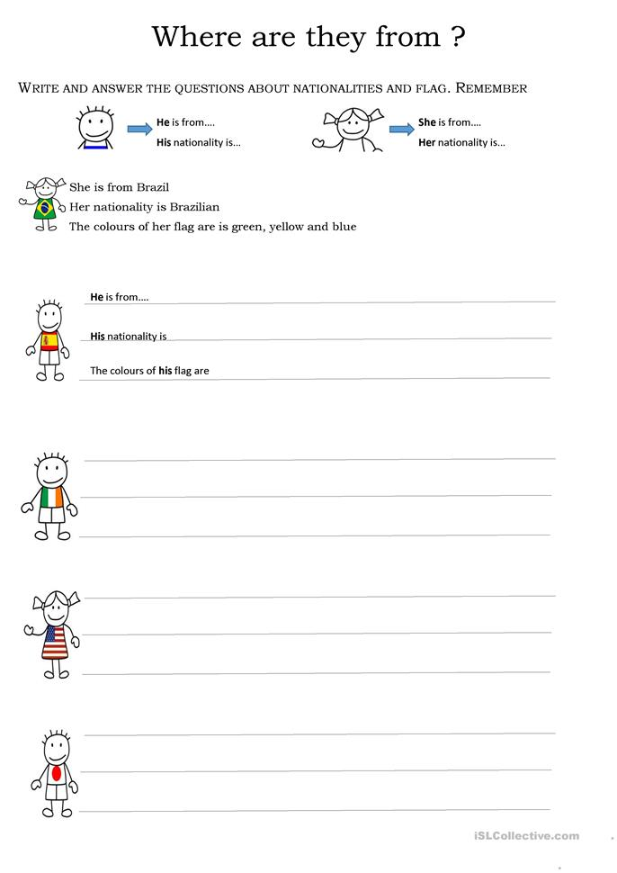 Where Are You From Worksheet