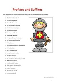 All Worksheets  Prefix And Suffix Worksheets High School ...