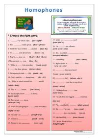 Homophones Worksheet Related Keywords & Suggestions ...