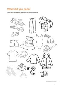 summer trip worksheet - Free ESL printable worksheets made ...