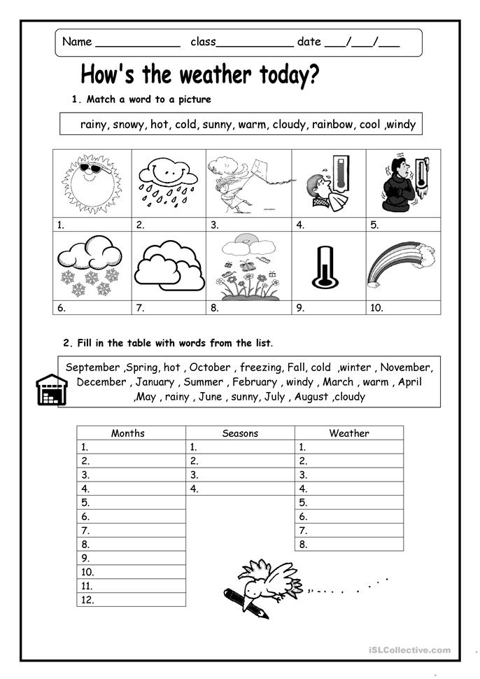 How's The Weather Worksheet  Free Esl Printable Worksheets Made By Teachers