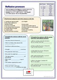 All Worksheets  Reflexive Pronoun Worksheets With Answers