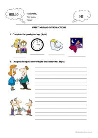 GREETINGS TEST worksheet - Free ESL printable worksheets ...