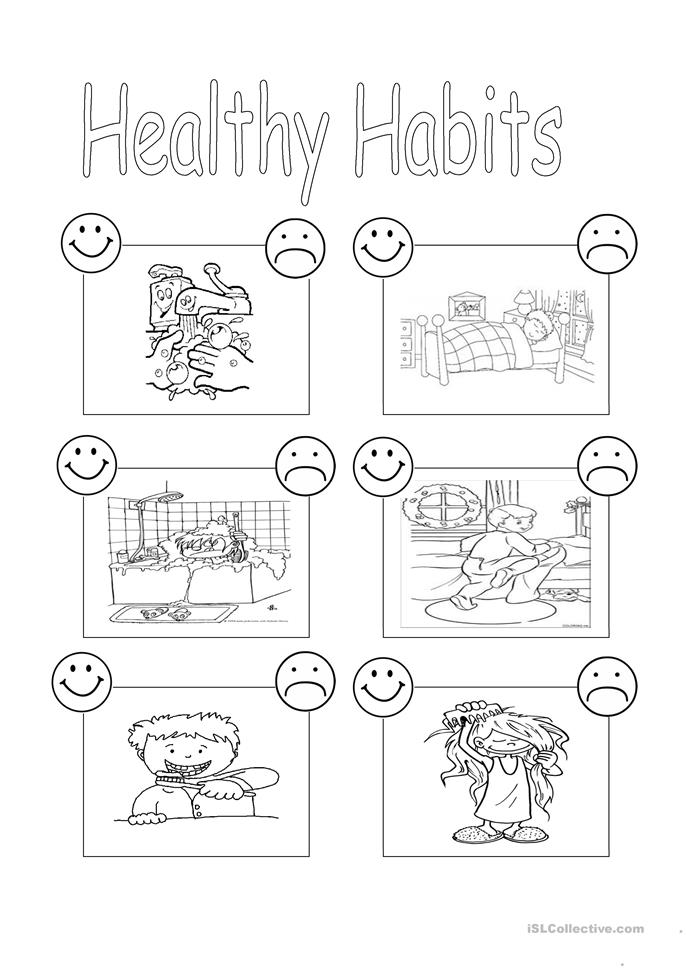 46 FREE ESL habits worksheets