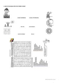 French Greetings Match worksheet - Free ESL printable ...