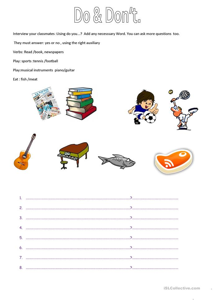 Do Does Question Board Game Worksheet