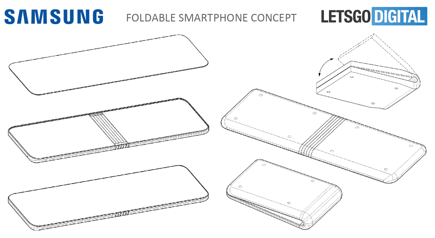 Samsung foldable smartphone with flexible display