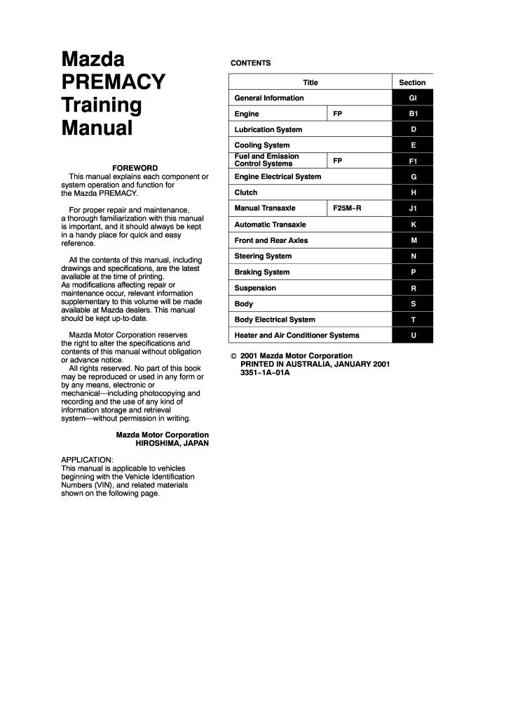 mazda premacy training manual.pdf (4.07 MB)