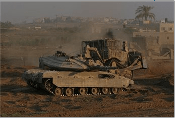 ZIONISTS BULLDOZERS LEVEL PALESTINIAN LANDS IN GAZA