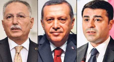 THREE CANDIDATES TO RUN FOR TURKEY'S PRESIDENCY