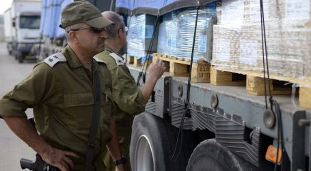 JORDANIAN AID CONVOY ARRIVES IN GAZA