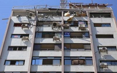 ZIONIST ISRAEL BOMBS HAMAS' TV STATION