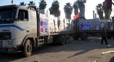 TURKEY DELIVERS FRESH AID SHIPMENT TO GAZA