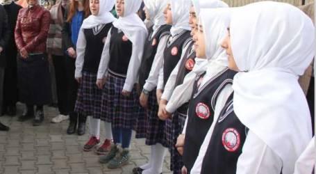 TURKEY ALLOWS WEARING HIJAB IN HIGH SCHOOLS