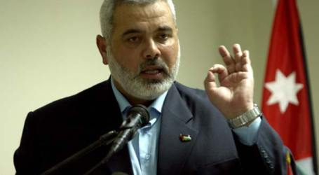 HANIYEH: HAMAS WILL NOT TRADE ARMS FOR GAZA RECONSTRUCTION