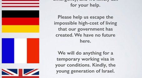 ISRAELI IMMIGRANTS IN EUROPE LAUNCH CAMPAIGN TO ENCOURAGE OTHERS TO FOLLOW