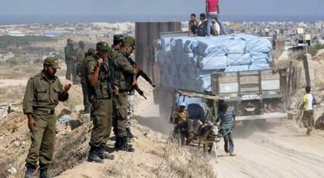 ISRAEL BARS BUILDING MATERIALS FROM GAZA
