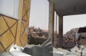 OCCUPATION BOMBARDS MARTYR SHALOUDI'S HOUSE IN JERUSALEM