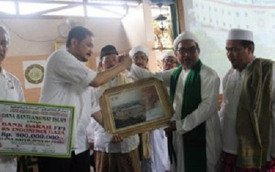 FPI DONATES BANK OF BLOOD  FOR INDONESIA HOSPITAL IN GAZA