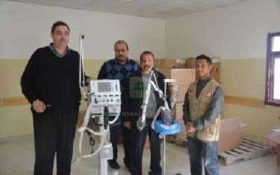 MEDICAL EQUIPMENTS ARRIVING AT INDONESIA HOSPITAL IN GAZA
