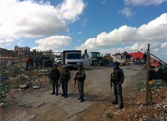 ZIONIST FORCES DEMOLISH PALESTINIAN SHOPS IN BETHLEHEM-AREA