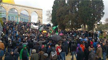 HUNDREDS PROTEST CHARLIE HEBDO CARTOON AT AQSA MOSQUE