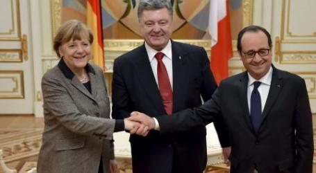GERMAN AND FRENCH LEADERS ARRIVE IN MOSCOW FOR UKRAINE TALKS