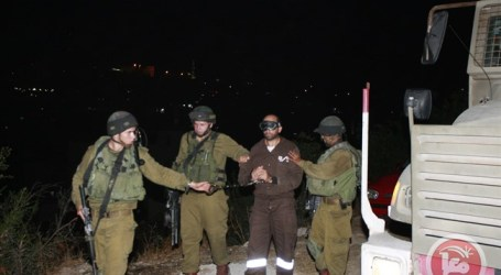 ISRAELI FORCES DETAIN PALESTINIAN AT NABLUS CHECKPOINT