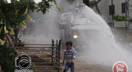 ISRAELI FORCES CHASE 5-YEAR-OLD WITH SKUNK WATER