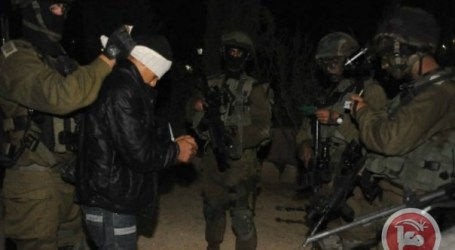 ISRAELI FORCES DETAIN 15 ACROSS WEST BANK, EAST JERUSALEM