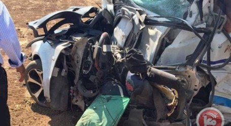 3 PALESTINIANS KILLED, 20 INJURED IN CAR ACCIDENT IN NORTHERN TUBAS
